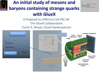 An initial study of mesons and baryons containing strange quarks with GlueX