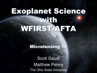 Exoplanet  Science  with WFIRST-AFTA Microlensing  18