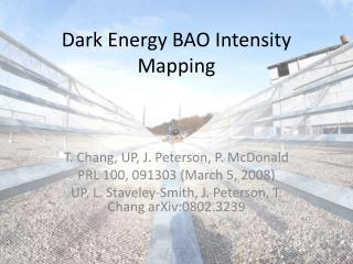 Dark Energy BAO  Intensity  Mapping
