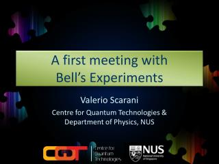 A first meeting with Bell's Experiments