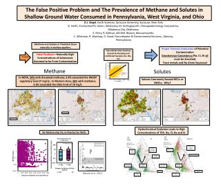 The False Positive Problem and The Prevalence of Methane and Solutes in Shallow Ground Water Consumed in  Pennsylvania,