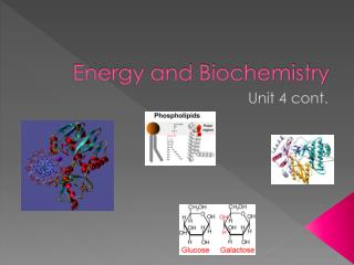 Energy and Biochemistry