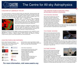 THE CAASTRO TEAM IS PURSUING THREE INTERLINKED SCIENCE PROGRAMS: THE EVOLVING UNIVERSE When did the first galaxies form
