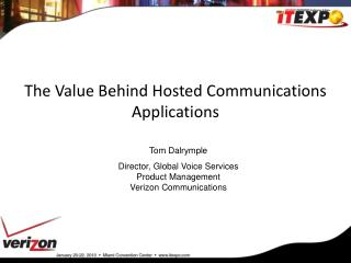 the value behind hosted communications applications