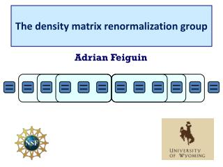 The density matrix renormalization group