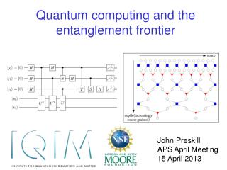 Quantum computing and the  e ntanglement  f rontier