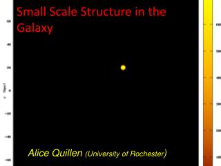 Small Scale Structure in the Galaxy