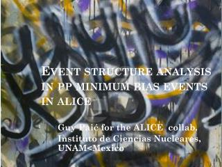 Event structure analysis in pp minimum bias  events in  alice