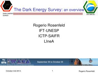 The Dark Energy Survey:  an overview