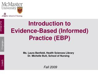 introduction to  evidence-based informed practice ebp