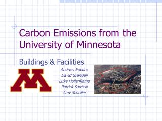Carbon Emissions from the University of Minnesota