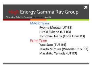 High  Energy Gamma Ray Group