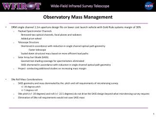 Observatory Mass Management