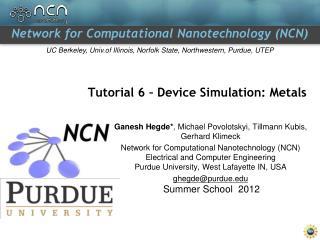 Tutorial 6 – Device Simulation: Metals