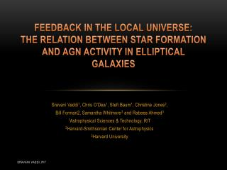 Feedback in the local universe: The  Relation Between Star Formation and AGN  Activity in elliptical galaxies