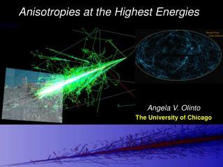 Angela V. Olinto The University of Chicago