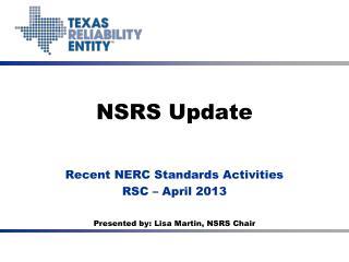 NSRS Update
