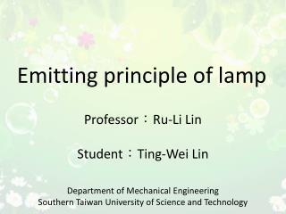 Emitting  principle  of lamp