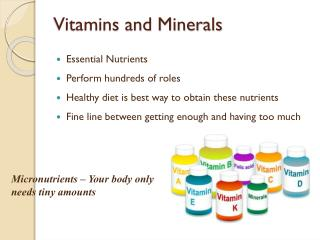 daily vitamin and mineral requirements pdf