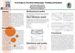 Novel Design of a Free-Piston Stirling Engine - Modelling and Simulation