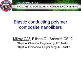 Elastic conducting polymer composite  nanofibers