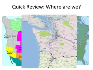 Quick Review: Where are we?