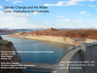 Climate Change and the Water Cycle: Implications for Colorado