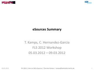 eSources Summary