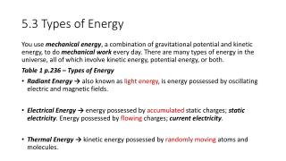 5.3 Types of Energy