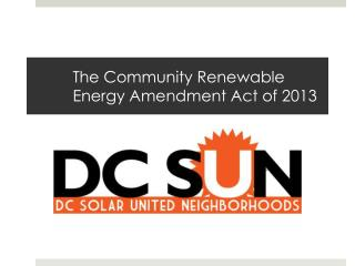 The Community Renewable Energy Amendment Act of 2013