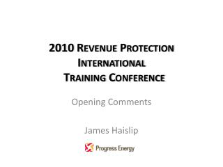 2010 Revenue Protection International   Training Conference