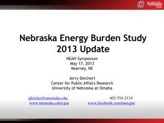 Nebraska Energy Burden Study 2013 Update