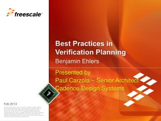 Best Practices in  Verification Planning