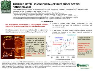TUNABLE METALLIC CONDUCTANCE IN FERROELECTRIC  NANODOMAINS