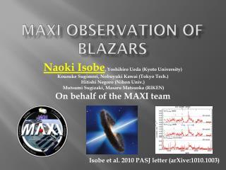 MAXI observation of  Blazars