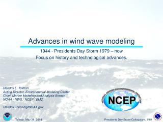 Advances in wind wave modeling
