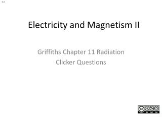Electricity  and Magnetism II