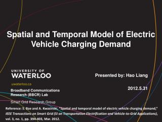 Spatial and Temporal Model of Electric Vehicle Charging Demand