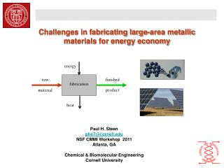 Challenges in fabricating large-area metallic materials for energy economy