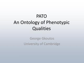 pato an ontology of phenotypic qualities