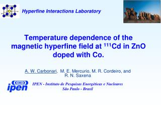 Temperature dependence of the magnetic hyperfine field at  111 Cd in ZnO doped with Co.