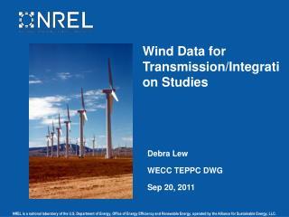 Wind Data for Transmission/Integration Studies