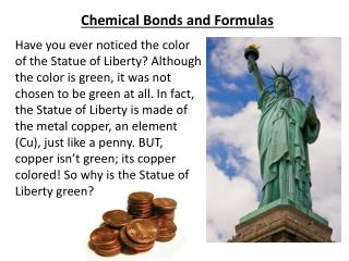 Chemical Bonds and Formulas