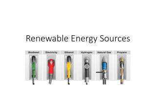 Renewable Energy Sources
