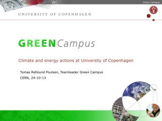 Climate and  energy  actions at  University  of Copenhagen