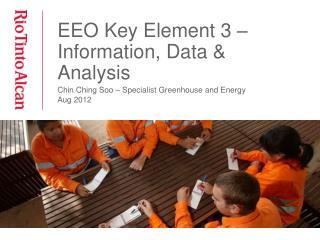 EEO Key Element 3 – Information, Data & Analysis
