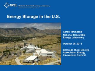 Energy Storage in the U.S.