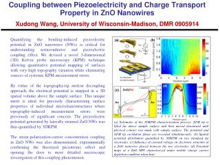 Coupling between Piezoelectricity and Charge Transport Property in ZnO Nanowires  Xudong Wang, University of Wisconsin-