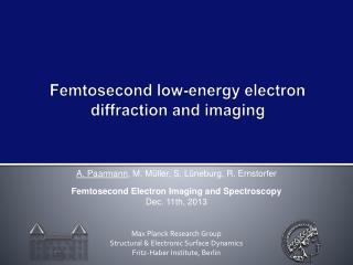 Femtosecond low-energy electron diffraction and imaging