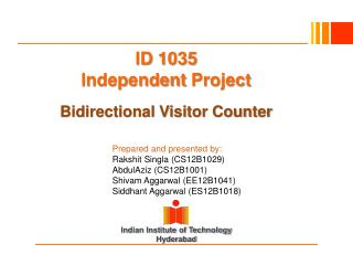 ID 1035 Independent  Project Bidirectional Visitor Counter
